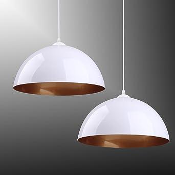 Hängeleuchte Pendelleuchte Designer Leuchte E27 weiß Esszimmer