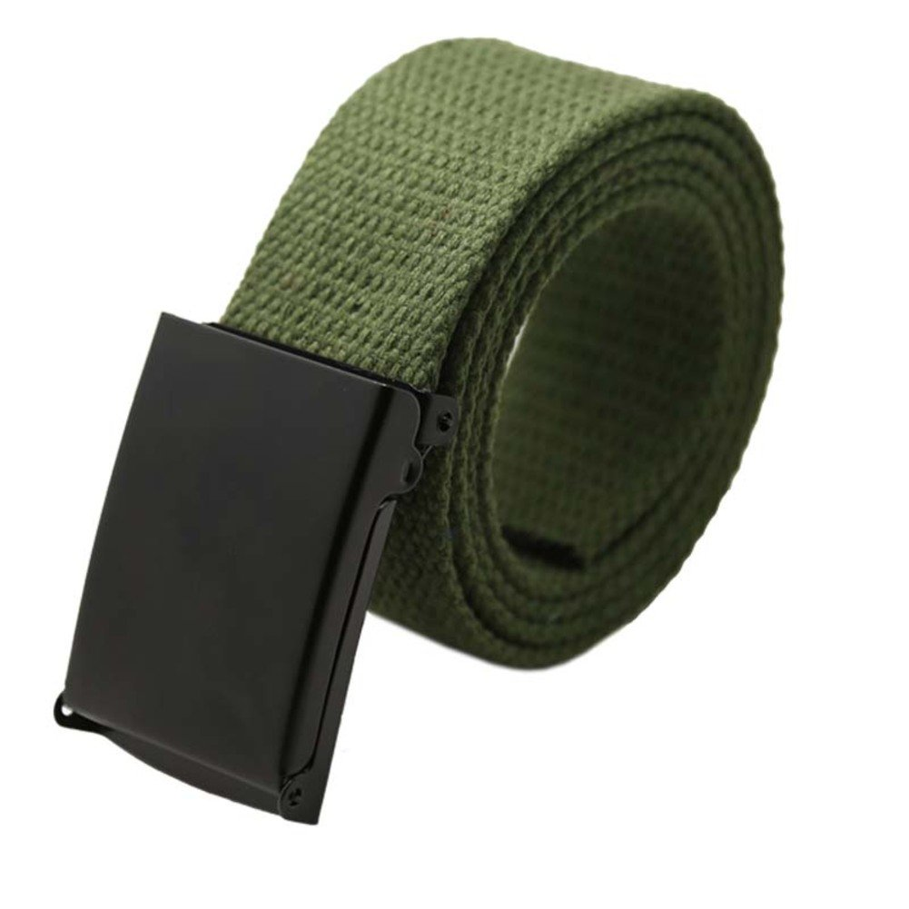 JIEJING Solid Color Weave Canvas Belt,Men And Women Meets Belt Leisure Student Belt