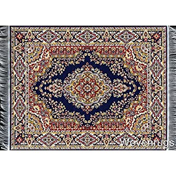 Wonderful Blue Oriental Woven Rug Mouse Pad   Turkish Style Carpet Mousemat