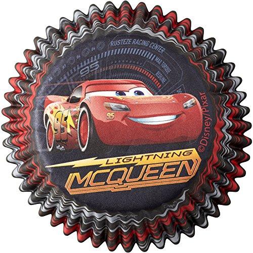 (Wilton 415-7110 50 Count Disney Pixar Cars 3 Cupcake Liners,)