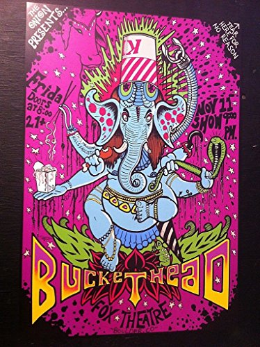 - Buckethead Rare Original Ltd Ed Fox Theatre Boulder Colorado Concert Gig Poster