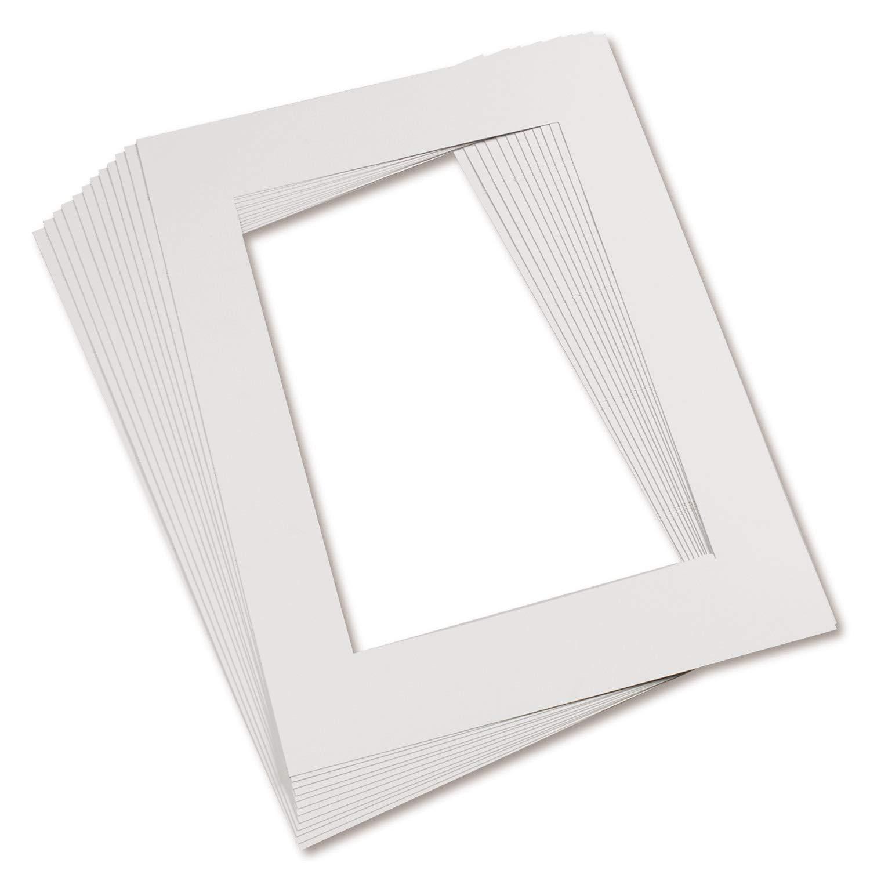 Pacon PAC72510 Pre-Cut Mat Frames White Pack of 12 9 x 12