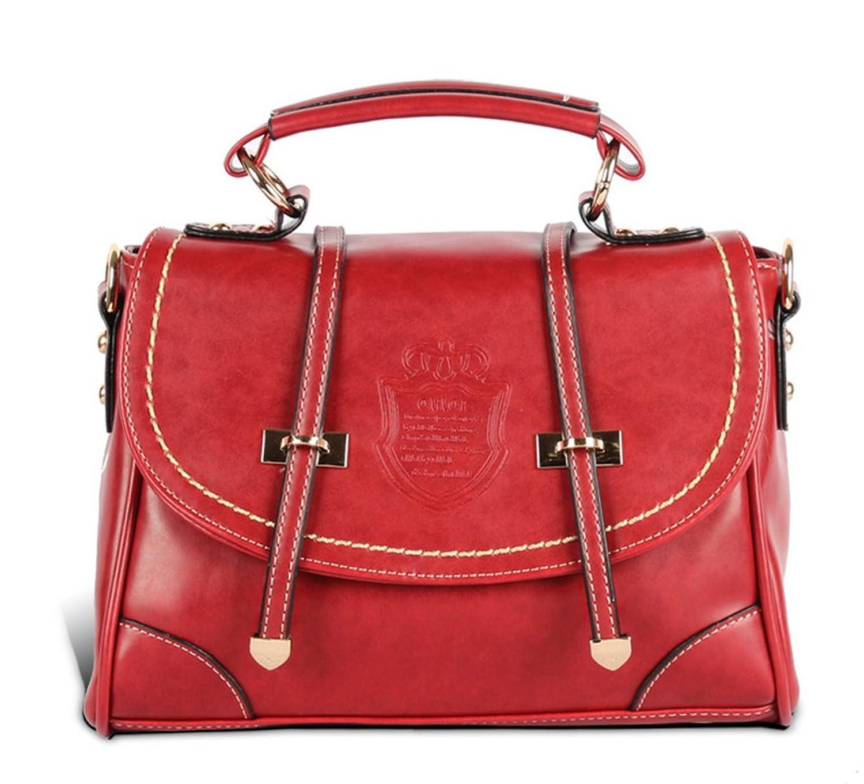 Pahajim Crown Handbag Shoulder Bag,wine Red