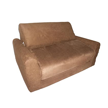 Merveilleux Fun Furnishings Micro Suede Sofa Sleeper With Pillows, Brown