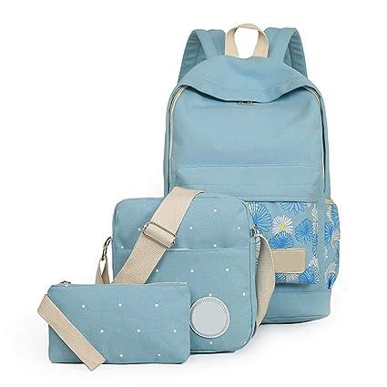 3 piezas set adolescentes mochilas,Mochilas Escolares,Mujer Mochila Escolar, Mochila de viaje