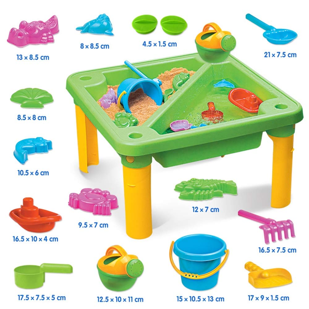 Children's Toy Sand Water Table Set, Beach Table Multiplayer Summer Play Water Kids Amusement Park Toys Seaside Play Holiday Travel by Pandady (Image #2)