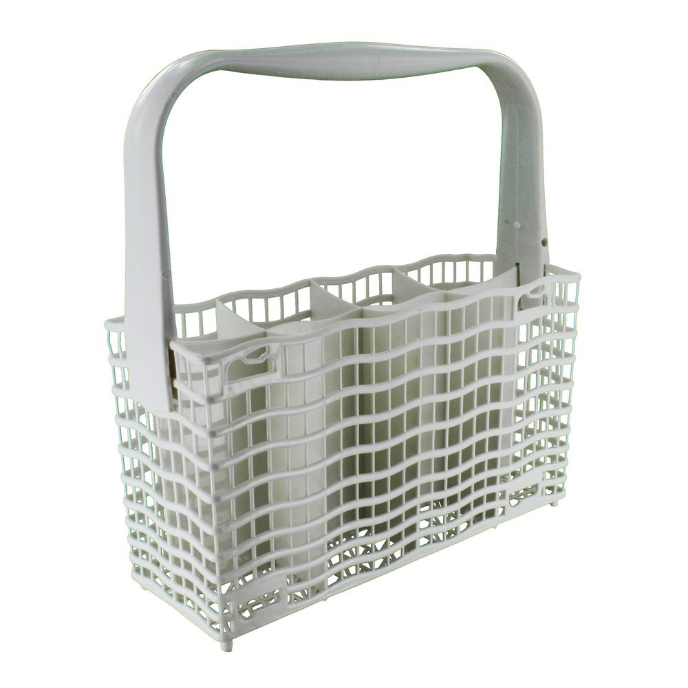 Electrolux Genuine Original Multi-Model Fitting Complete Plastic Cutlery Basket Fits for AEG/Electrolux/Elektro Helios/Privileg/Rex/Zanussi, White 68-EL-28