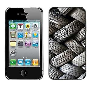 Print Motif Coque de protection Case Cover // V00002538 neumáticos apilados en un patrón // Apple iPhone 4 4S 4G