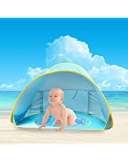 Baby Beach Tent,Oummit Pop-up Baby Tent with Beach Pool Automatic Foldable Portable Tent Sun Protection Anti UV Very Suitable for Beach Holidays.(Blue)