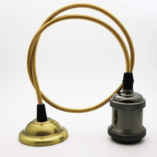 Vintage Bronce lámpara colgante, estilo retro antigüedad ...