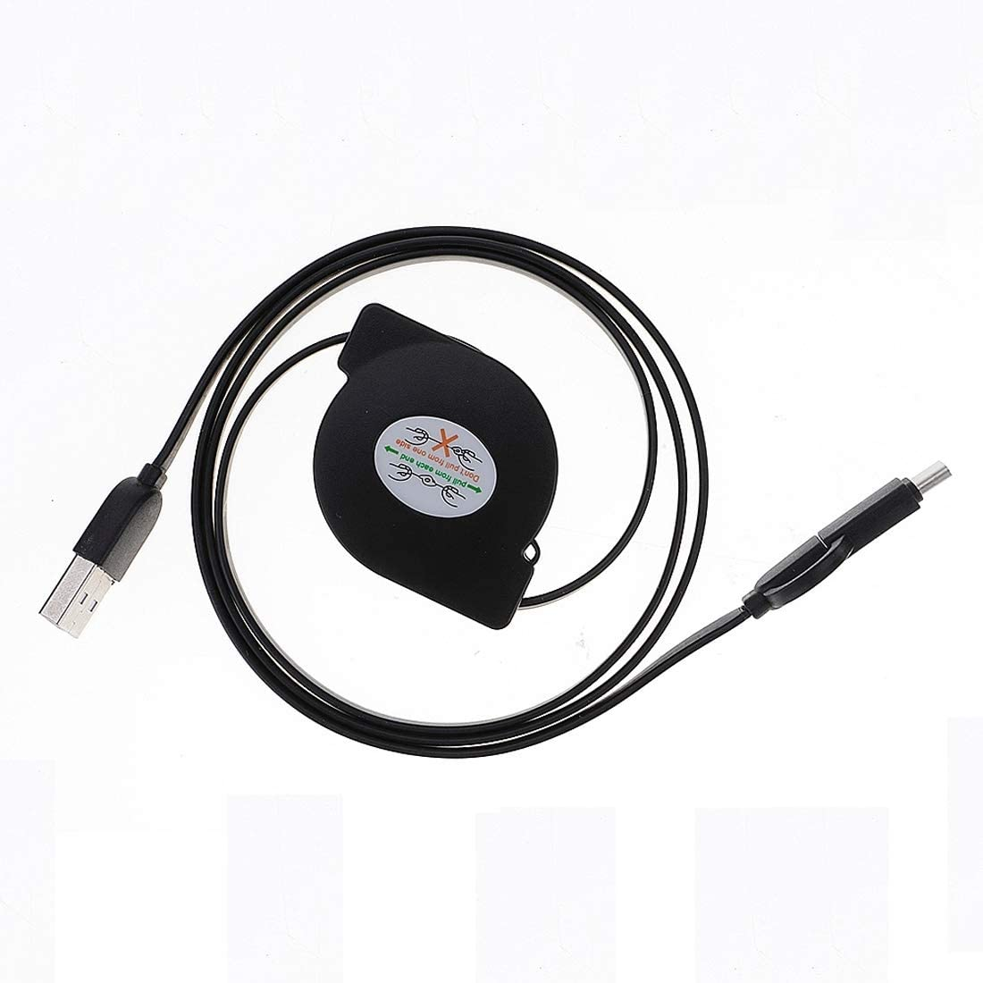 lekai Compact and Lightweight Cable 1m 2A Two in One Retractable Micro USB to Type-C Data Sync Charging Cable LG HTC and Other Smart Phones Rechargeable Devices B for Galaxy Huawei Xiaomi