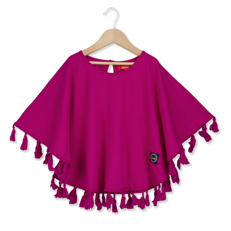 Olele Girls Pink Pompom Kaftan Dress New Dresses For Girls 2019 New Dresses For Girls 2019 Stylish New Dresses For Girls Kids 2019 Fancy New Dresses For Girls