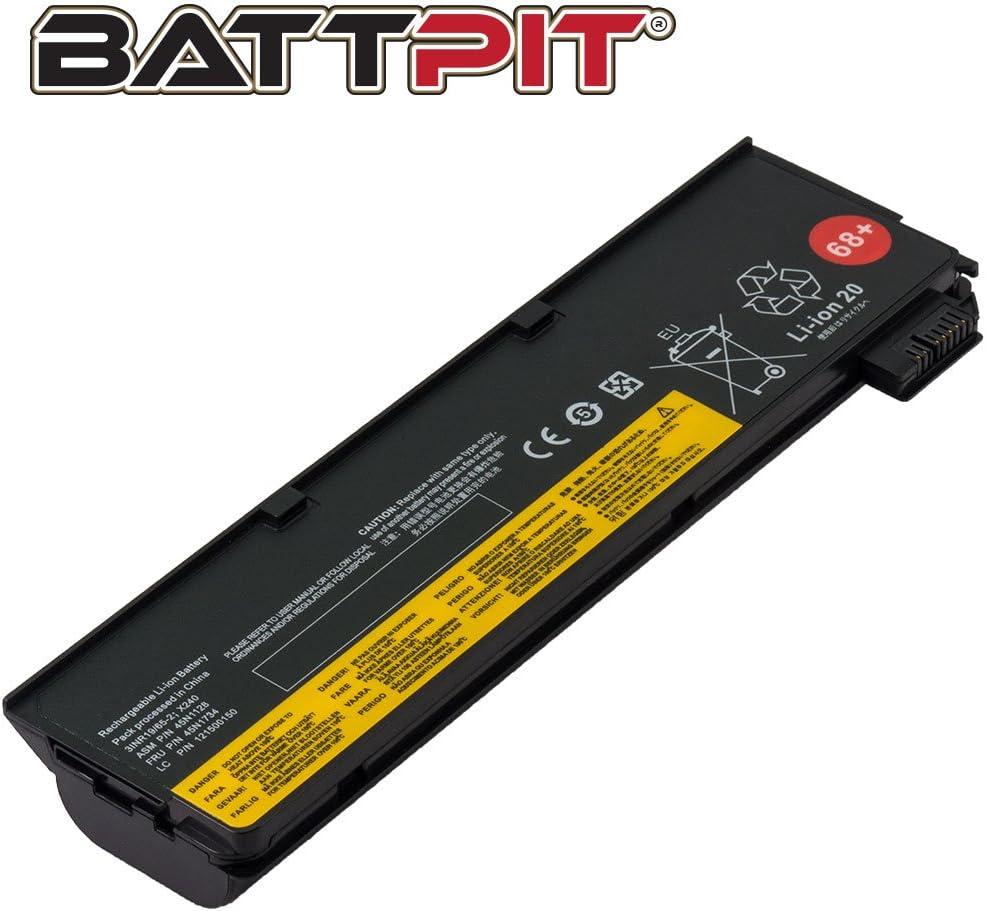 Battpit Batterie pour PC Portables Lenovo 45N1136 0C52862 ThinkPad X240 X250 T440 T440s T450 T450s T460 T460p T470p T550 T560 L450 L460 6 Cellules//4400mAh//48Wh