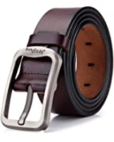 "Tekon New Business Men Split Ceinture en cuir 1.5 ""Cowhide Vintage Classic Jean Pin Buckle Ceintures 41"" - 49 ""Free Trim"