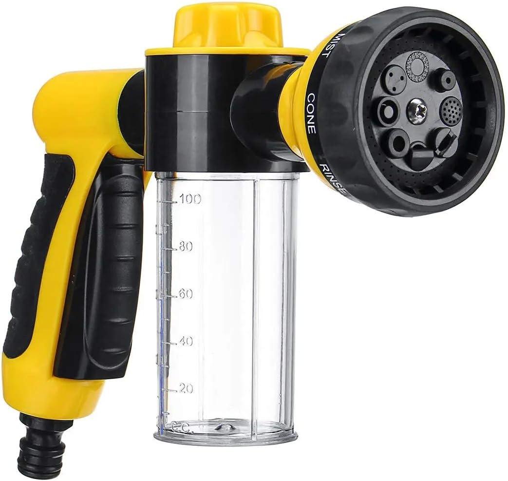 Yhjkvl Pistola para Hidrolavadora Aerosol de Alta presión del Limpiador del Coche Lavado de Espuma de Nieve Agua de la máquina de Limpieza 8 Ajustes Limpiadoras a Presión