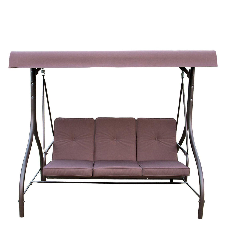 Amazon.com : Mainstays Lawson Ridge Converting Outdoor Swing/hammock,  Brown, Seats 3 : Patio, Lawn & Garden - Amazon.com : Mainstays Lawson Ridge Converting Outdoor Swing