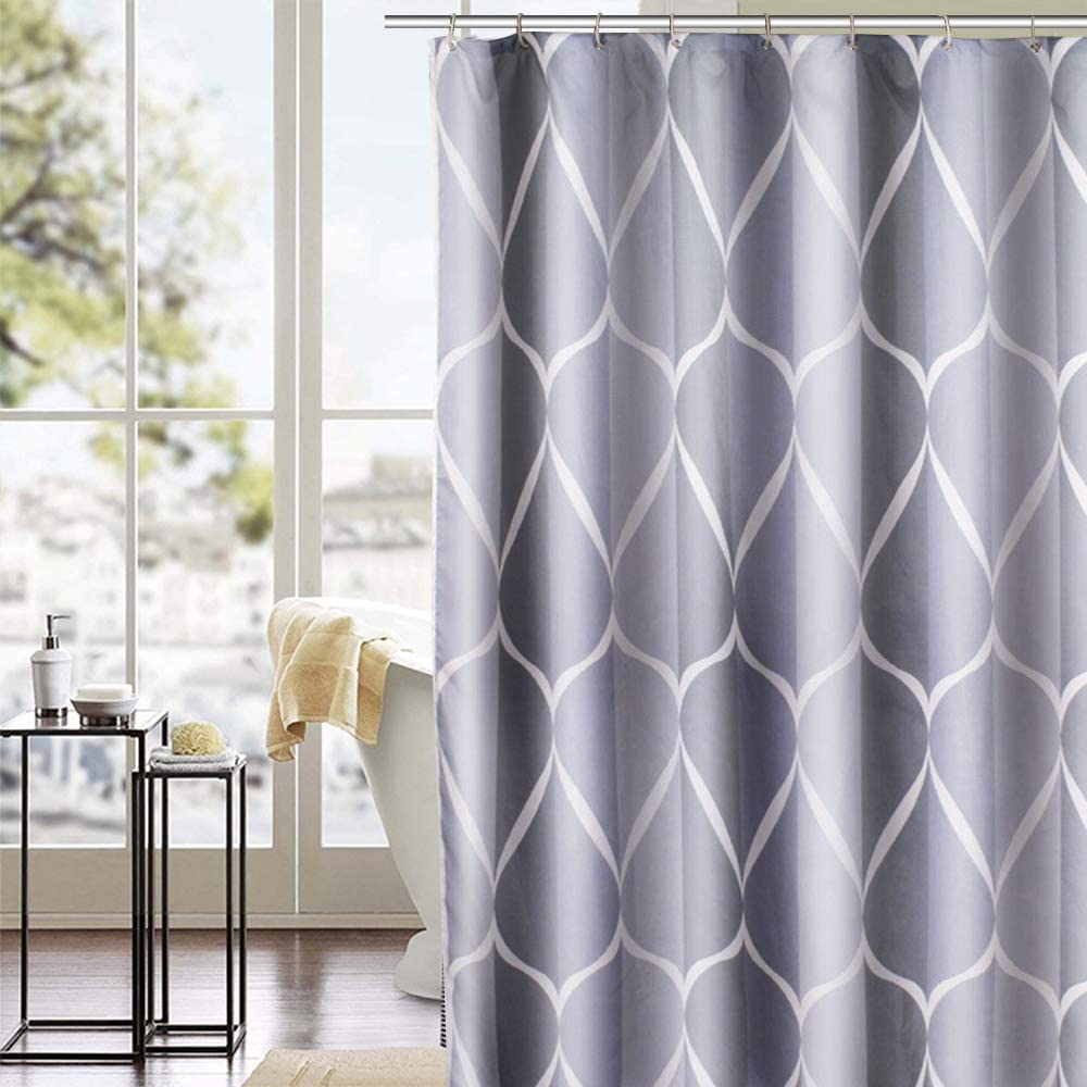 Waterproof Mildew Resistant Shower Extra Long Shower Curtain 180 x 240cm Drop