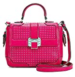 Rebecca Minkoff Women's Elle Mini Fucsia Leather Shoulder Bag