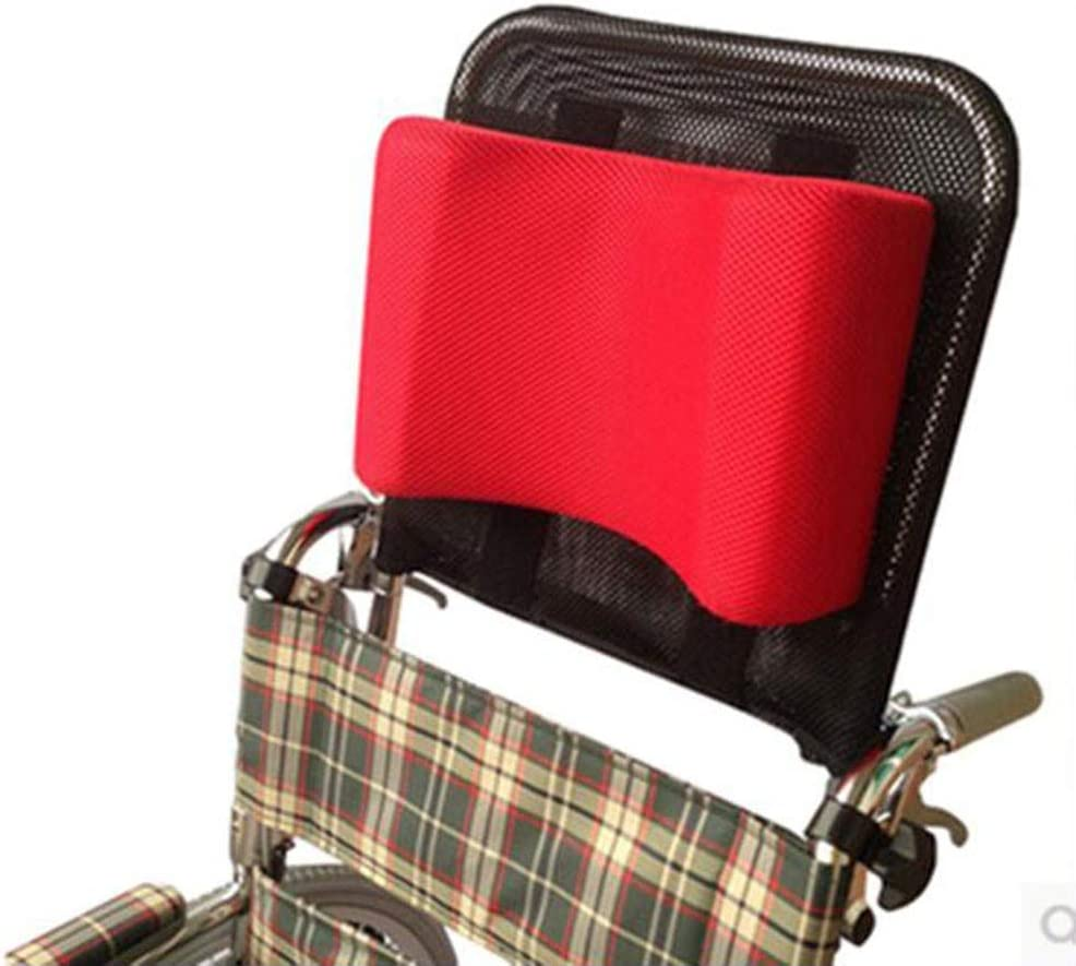 QLT BETY Silla de Ruedas Reposacabezas Soporte para el Cuello Cojín Transpirable Ángulo Ajustable Elevación de Respaldo Respirable Desmontaje