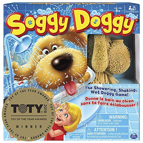 Soggy Doggy Board Game for Kids with Interactive Dog Toy -
