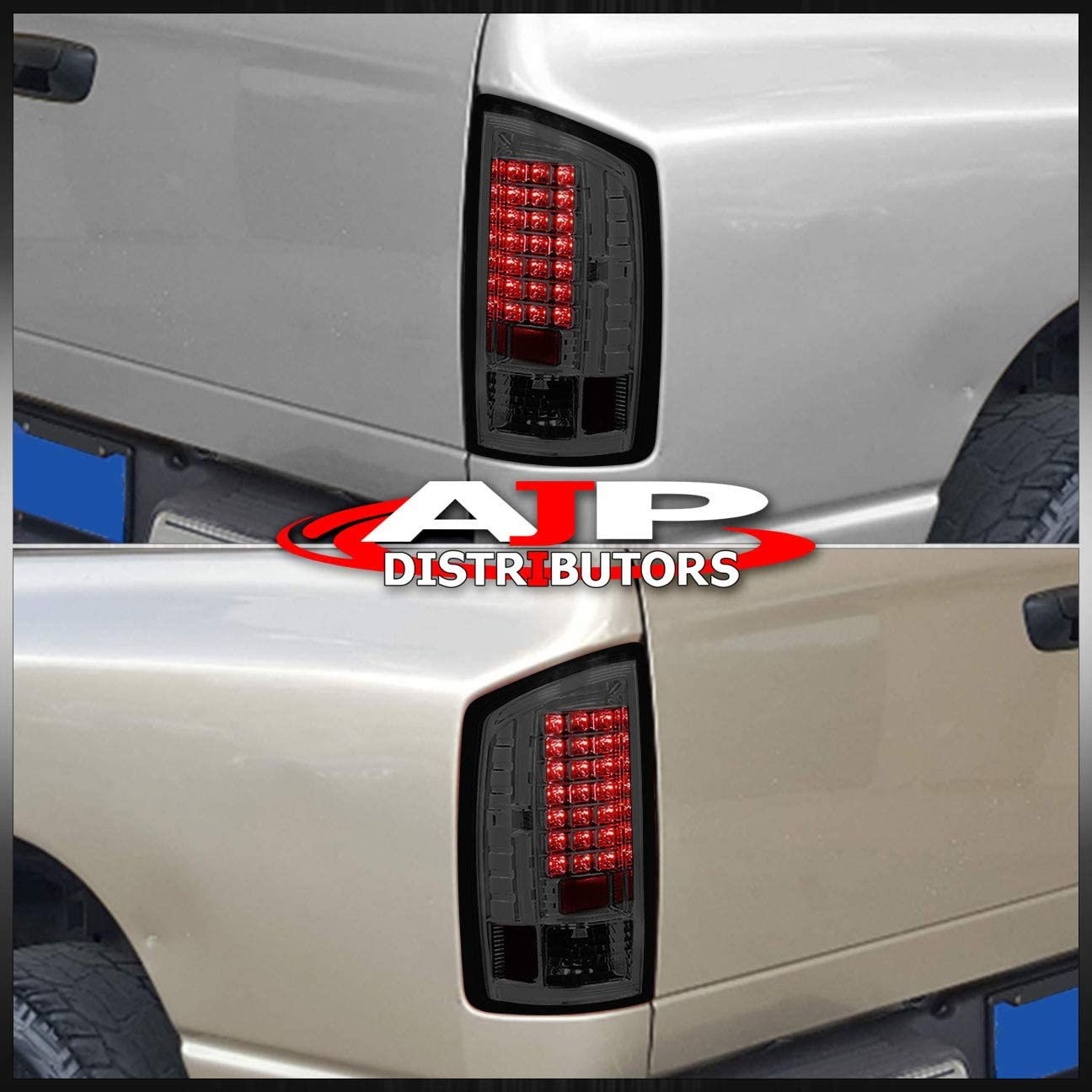 AJP Distributors For Dodge Ram 1500 2500 3500 Rear LED Replacement Upgrade Driving Brake Stop Tail Lights Lamps Light Lamp Assembly Unit Left Right 2003 2004 2005 2006 03 04 05 06