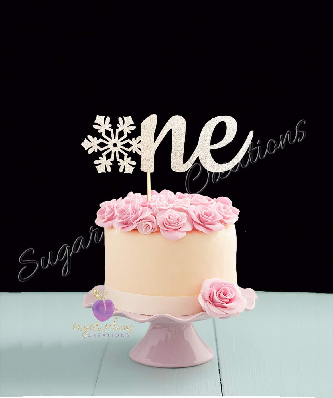 Wondrous Amazon Com Sugar Plum Creations One Snowflake Birthday Cake Personalised Birthday Cards Beptaeletsinfo