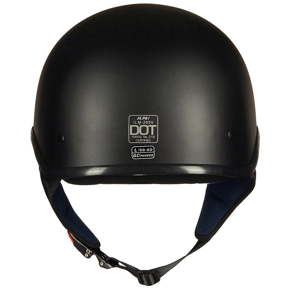 Upgraded ILM Motorcycle Half Helmet With Integrated Sun Visor Quick Release Buckle DOT Approved (M, MATT BLACK) by ILM (Image #5)