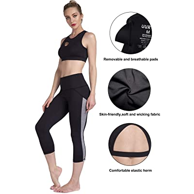 UURUN Womens Super Comfty High Impact Padded Racerback Sports Bra Wide Straps Exercise Fitness Yoga Bras Everyday Use