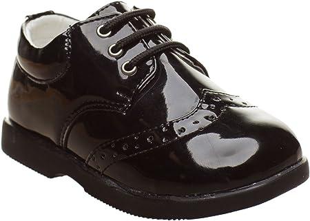 Paisley of London - Zapatos de Vestir Negros para niños