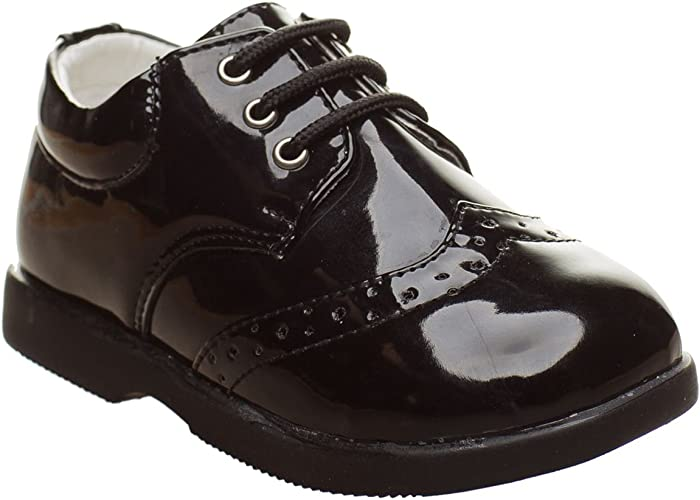 Boys Wedding Party Formal Shoes Patent Shoes Infant Sizes UK 1,2,3,4,5,6,7,8