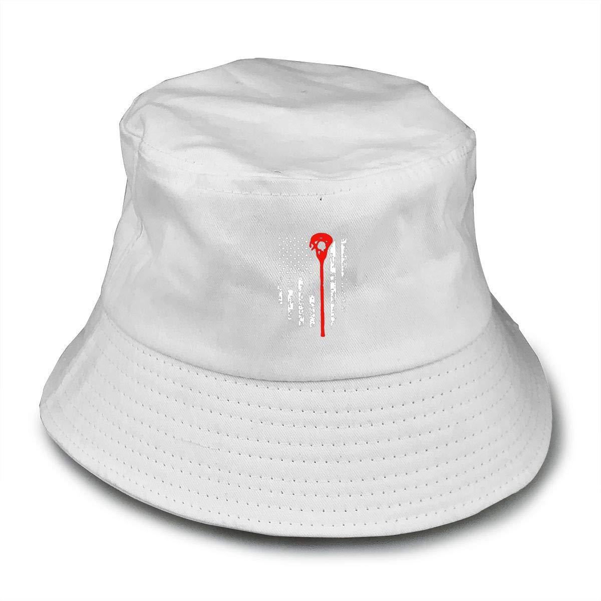 160e3c9b Hangren Lacrosse American Flag Bucket Hat Summer Fisherman Cap Foldable Sun  Protection Hat at Amazon Men's Clothing store: