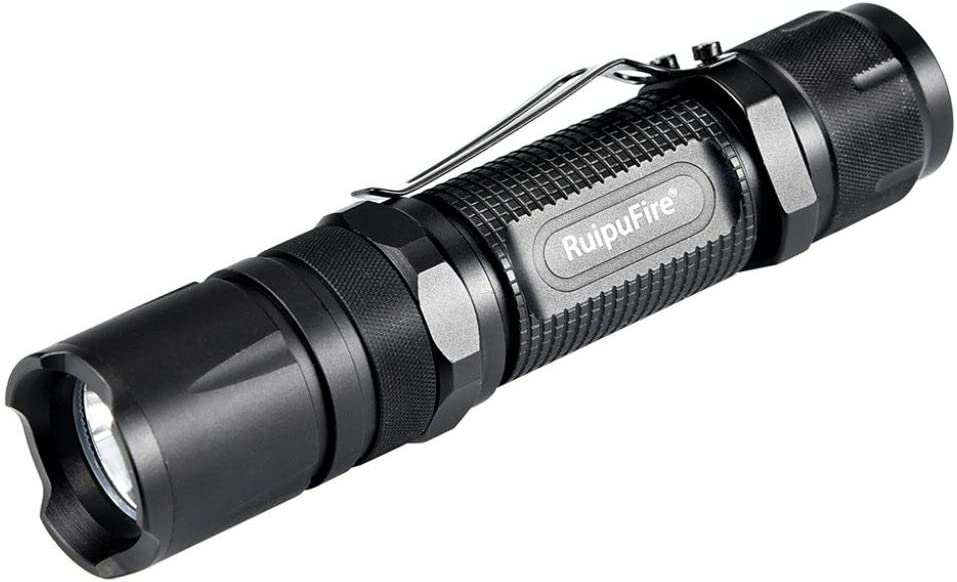 Reipufire USB XM-L2 LED Flashlight Torch Rechargeable 3-Modes Zoomable Lamp