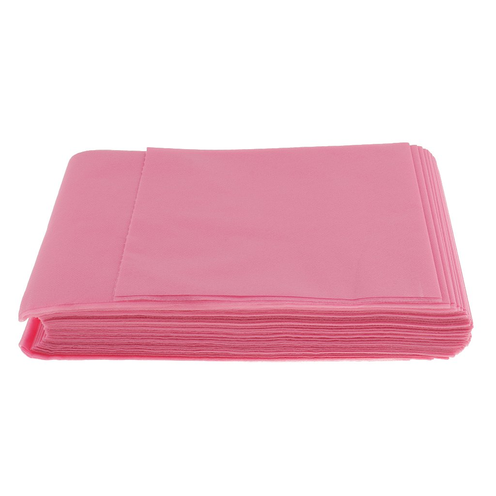 Jili Online Lot of 10 Pieces Disposable Beauty Massage Salon Hotel Bed Pads Cover Sheets Pink Blue White - Blue, as described