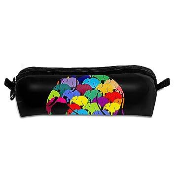 Colorful Elephant Students Canvas Pencil Case Pen Bag Pouch ...
