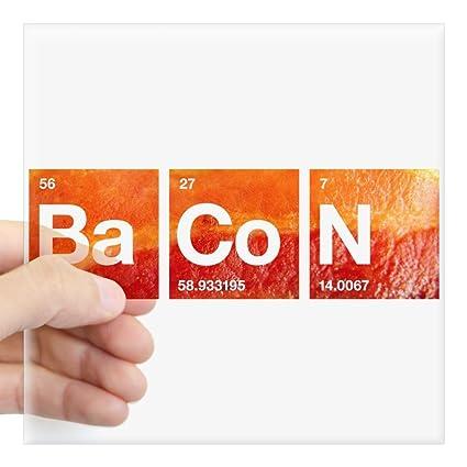 Amazon Cafepress I Love Bacon And A Periodic Table Sticker