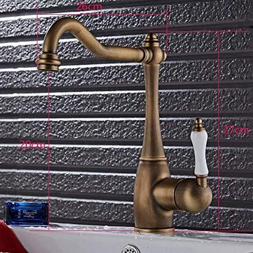 セラミックハンドル付き360°ラヴェッロ流域ミキサーのタップを旋回する真鍮アンティークの台所の蛇口キッチン願望