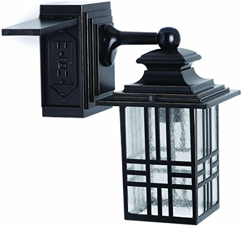 17in. Satin Black Outdoor Gooseneck Barn Light Fixture with 24in. Long Extension Arm – Wall Sconce Farmhouse, Vintage, Antique Style – UL Listed – 9W 900lm A19 LED Bulb 5000K Cool White