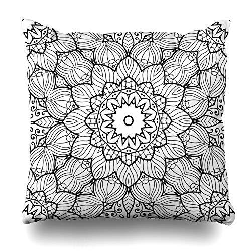 Ahawoso Zendoodle Backfround Decorative Pillowcase