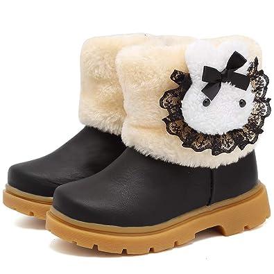 350b9b5d1 Femizee Toddler Snow Boots for Boys Girls Winter Outdoor Waterproof Fur  Lined Kids Booties