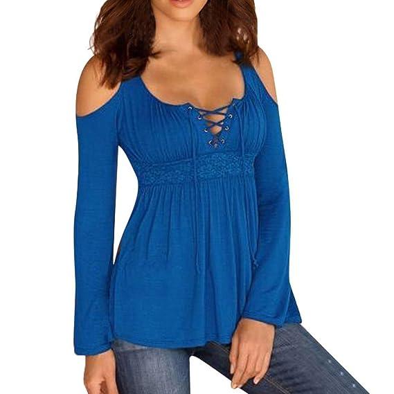 Camisa Las Mujeres se vendan del Hombro,Casual Solid Off Shoulder Tops de