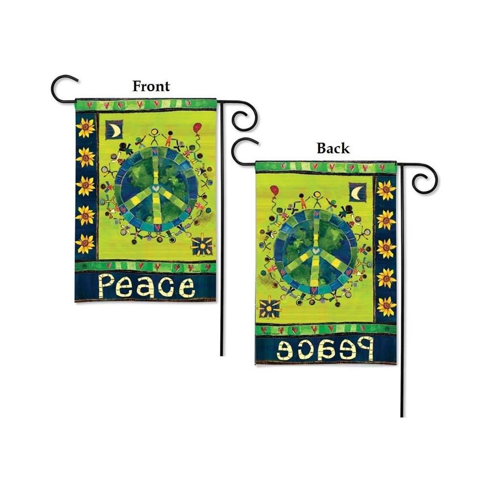 Amazon.com : BreezeArt Enter In Peace Garden Flag #31119 : Garden ...