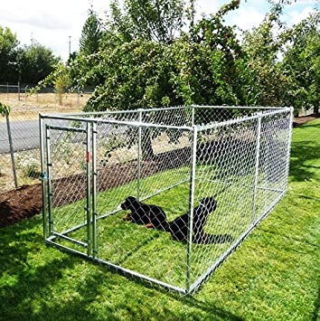 Lucky Dog Run/Kennel Galvanised Metal Highest Quality (10X5X4)