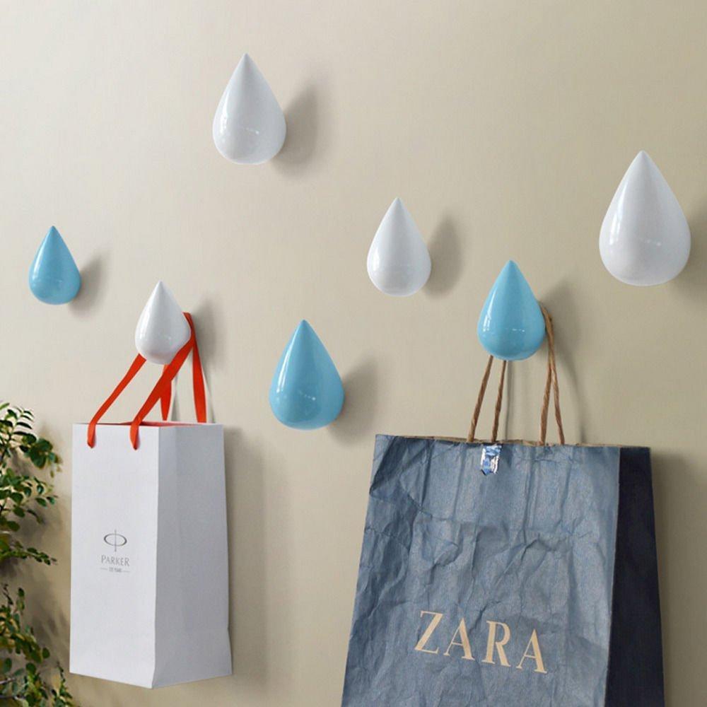 (Small, White) E Support Hot Simple Modern Decor Creative Coat Hanger Hooks Dressing Room Wall Decoration B01L3EPPZG S|ホワイト ホワイト S