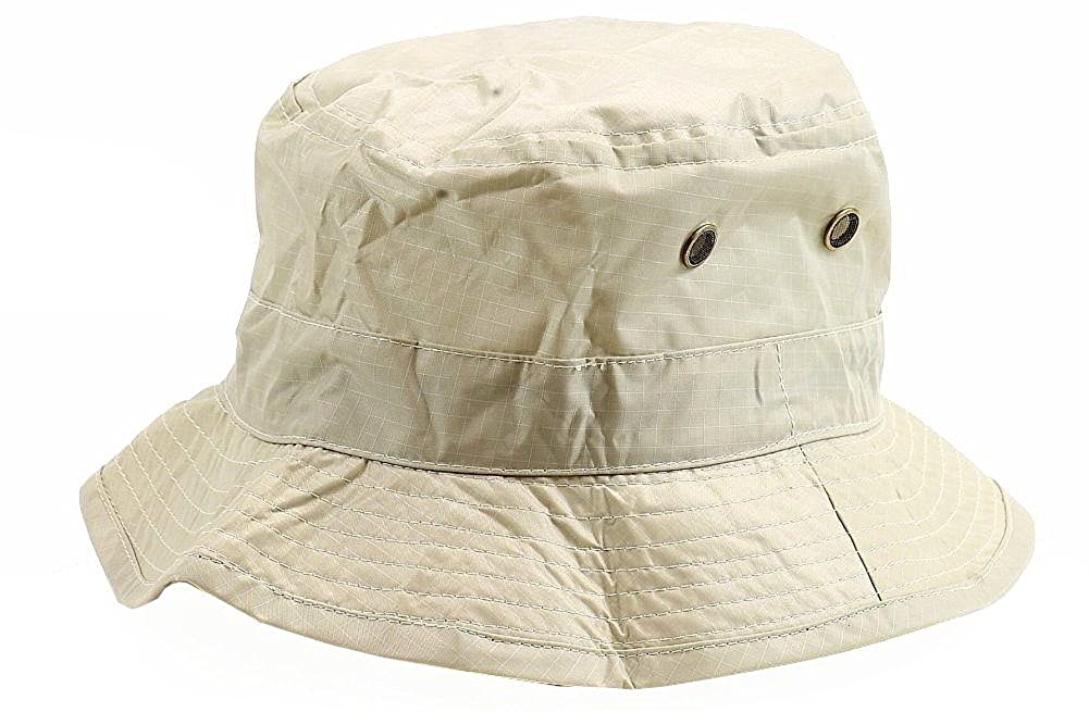 Henschel Men's Waterproof Packable Rain Tan Bucket Hat Waterproof Rain Hat Henschel Hat Company 8001