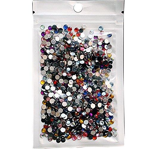4 Nail Polish Piece (La Demoiselle 1000 Piece Mixed Color Round Rhinestones 4mm)