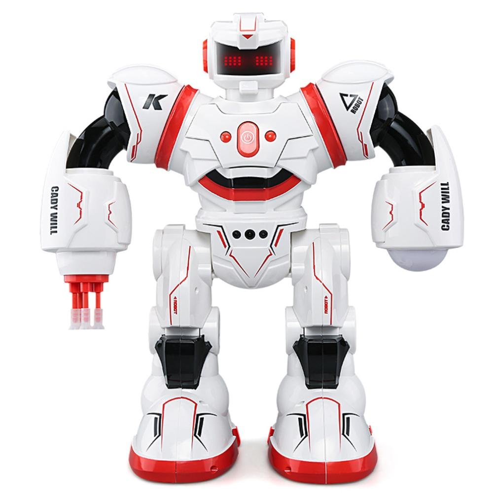 Dreamyth Fun K1 Kaidiweier Remote Control Intelligent Sensor Robot With Light Long Standby (Red)
