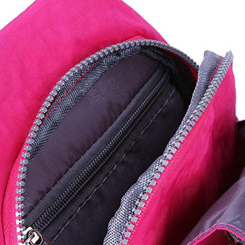 Messenger Sport Packs Unisex Handbags Shoulder Travel Nylon Widewing Chest Rose Red Crossbody 68Yfwx