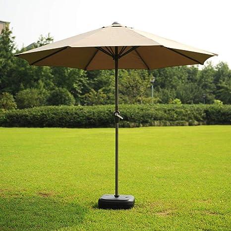LNDDP Sombrillas Jardín Césped Sombrilla al Aire Libre Mercado Patio Mesa Toldo Solar Sombrilla Poste Acero Protección UV (Color: Caqui): Amazon.es: Deportes y aire libre