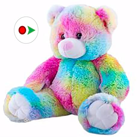 23f9bf06d73 Amazon.com  Stuffems Toy Shop Record Your Own Plush 16 Rainbow Bear ...