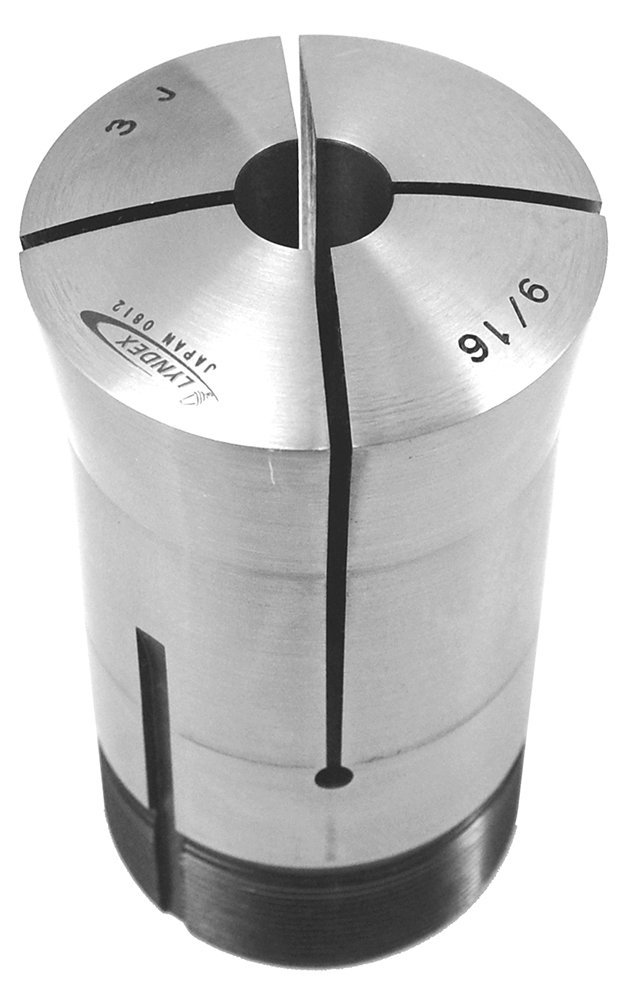 Lyndex 300-048 3J Round Collet, 3/4'' Opening Size, 3.75'' Length, 2.20'' Top Diameter, 2'' Bottom Diameter